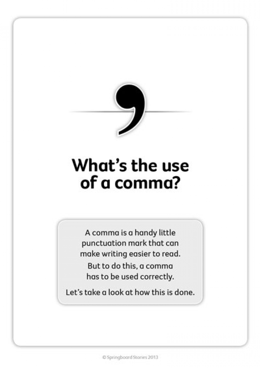 What's the use of a comma?